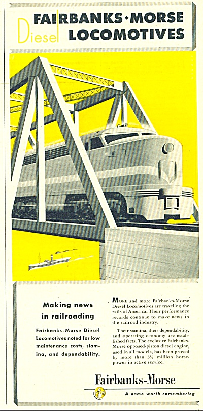 Fairbanks-Morse locomotives ad - 1947 (Image1)