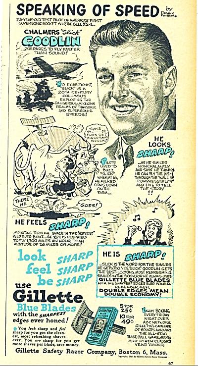 Gillette blue blades ad - 1947 (Image1)
