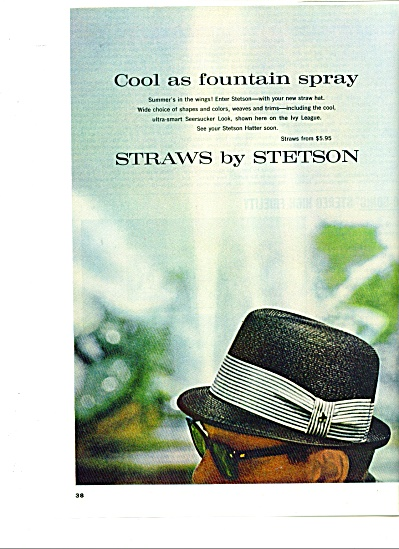 1963 Straws by Stetson HAT  ad -  1963 (Image1)