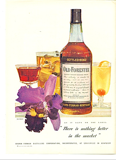 Old Forester Bourbon whiskey ad  1947 IRIS (Image1)