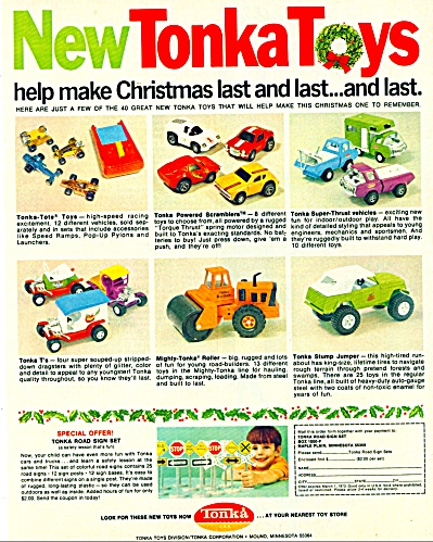 1971 Tonka Toys Truck & Cars AD Christmas (Image1)