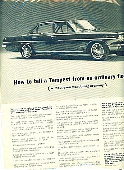 Wide Track Pontiac Tempest ad (Image1)