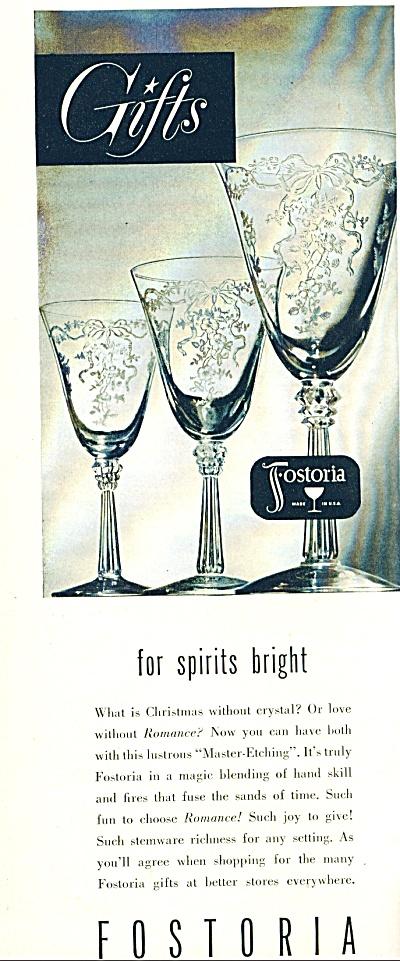 Fostoria glass company ad - 1949 (Image1)