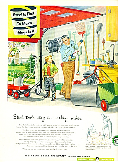 Weldwood Plywood colored ad  -  1952 (Image1)