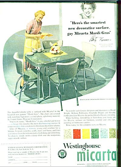 Westinghouse micarta ad - 1953 (Image1)