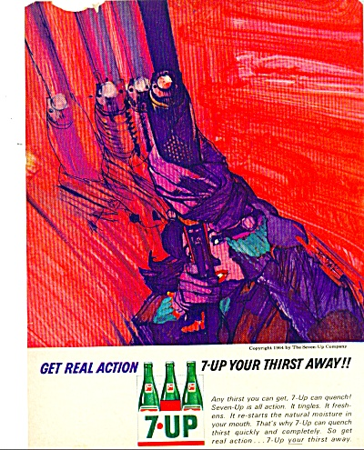 7-Up drink ad BOB PEAK ART (Image1)