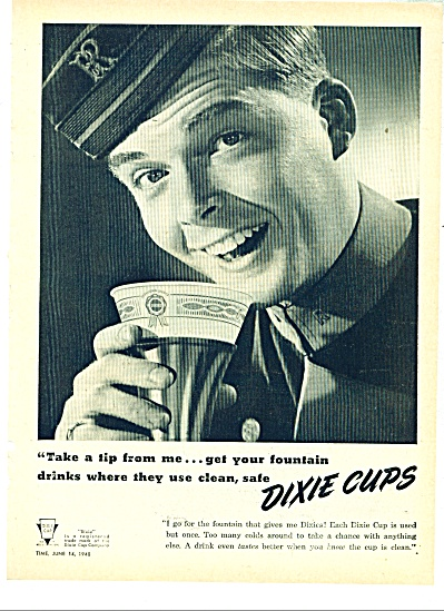 1948 Pennsylvania Railroad Porter DIXIE CUPS (Image1)