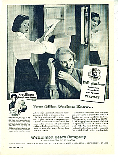 Wellington Sears Company ad - 1948 (Image1)