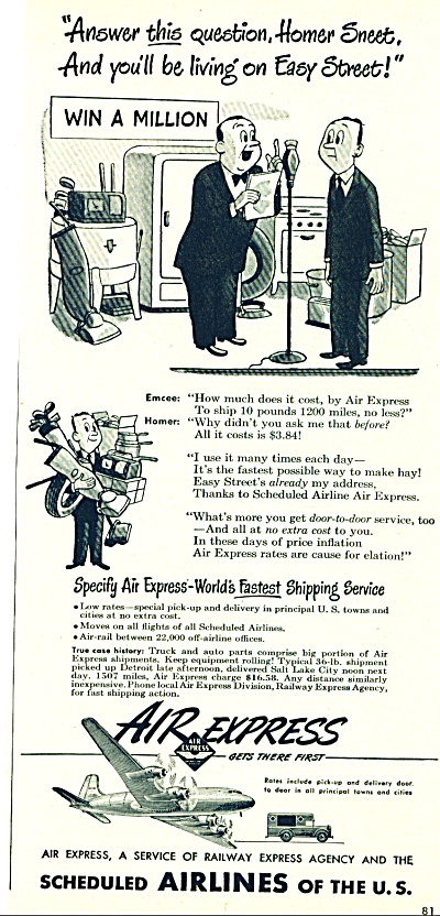 1948 Air express AD - Railway Express Co. (Image1)