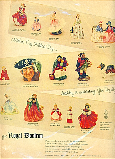 1957 Royal Doulton Ad Toby - Figurines And Mo