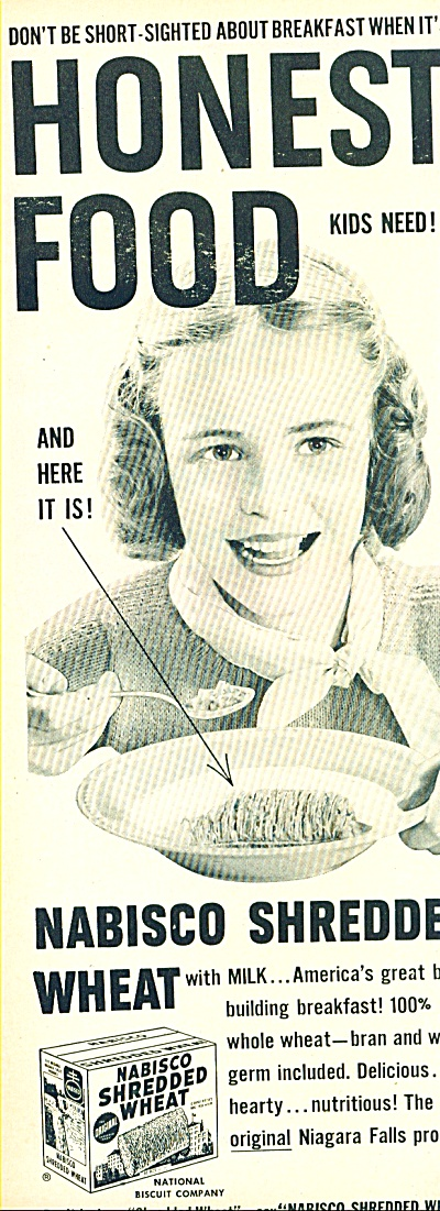 Nabisco shredded wheat  ad -  1952 (Image1)