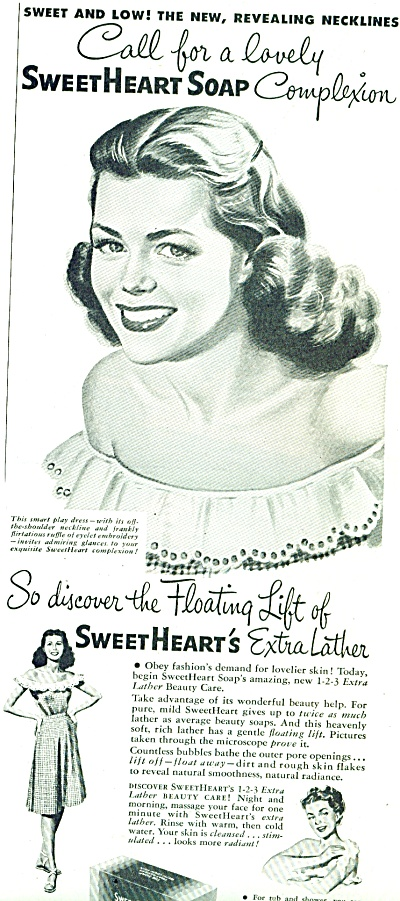 1947 SWEETHEART BEAUTY SOAP Beautiful WOMAN A (Image1)