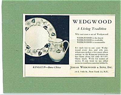 1953 Wedgwood  Dinnerware AD (Image1)