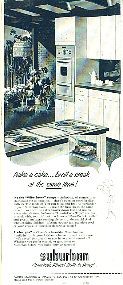 Suburban - built in range ad - 1955 (Image1)