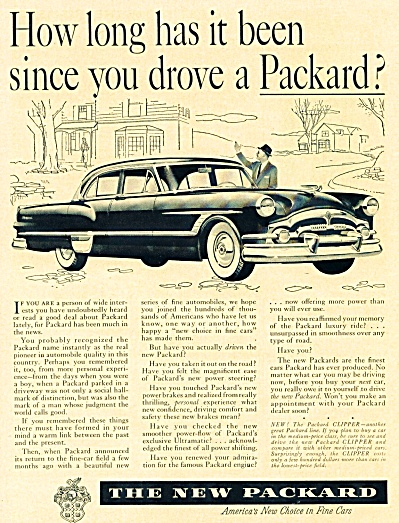 1953 PACKARD How Long Has it Been AD CLIPPER (Image1)