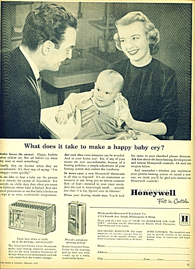 Honeywell first in controls ad -  1952 (Image1)