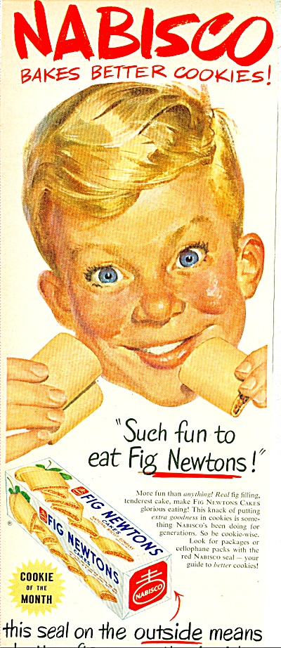 1952 Nabisco Fig Newtons Ad Rockwell-ish Boy