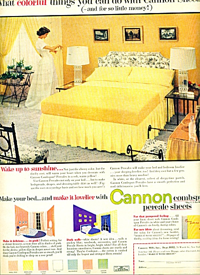 Cannon percale sheets ad - 1952 (Image1)