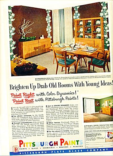 Pittsburgh Paints ad - 1952 (Image1)