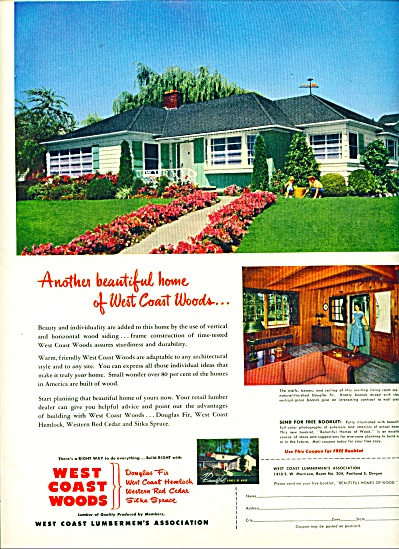 West Coast woods ad -  1952 (Image1)