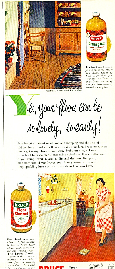 Bruce Floor products ad - 1952 (Image1)