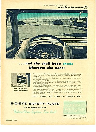 E-Z-Eye Safety Plate ad    1953 (Image1)