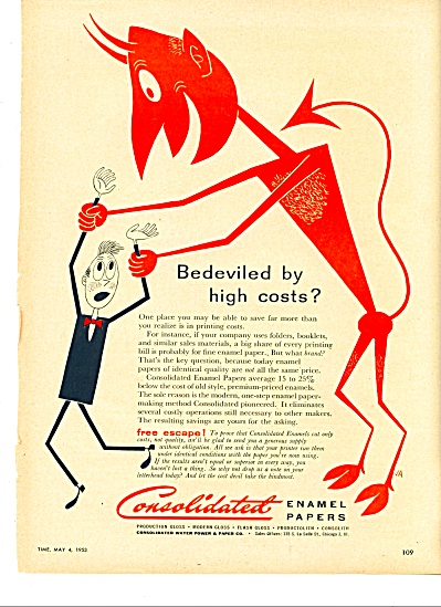 1953 Consolidated enamel papers ad BEDEVILED (Image1)