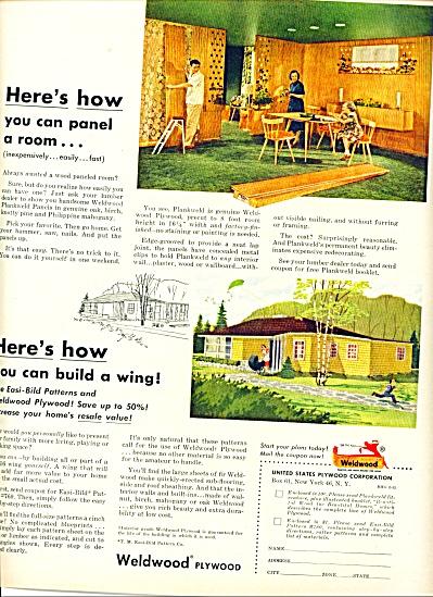 Weldwood plywood ad -  1952 (Image1)
