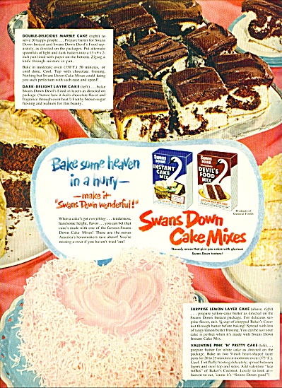 Swans Down cake mixes ad -  1952 (Image1)