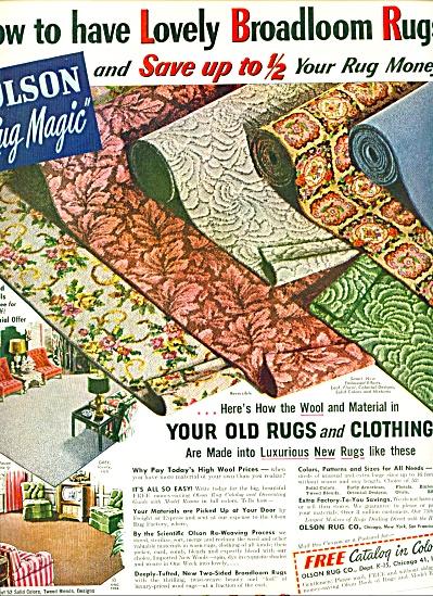 Olson Rug Magic ad   1952 (Image1)
