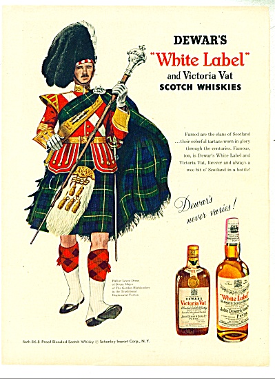 Dewar's white label whiskies ad - 1953 (Image1)