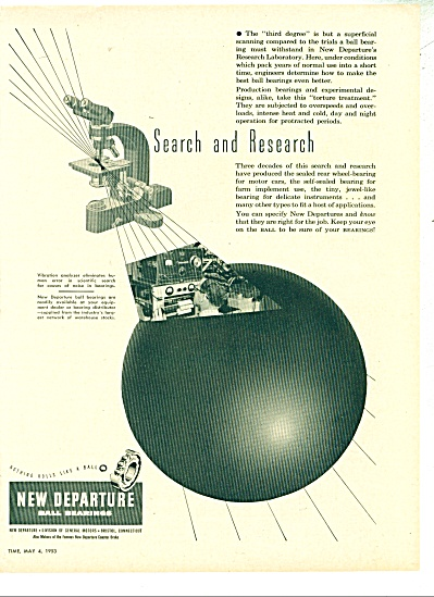 New Departure Ball bearings co. 1953 (Image1)