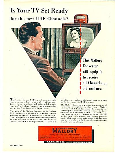 Mallory & Co. Converter  ad - 1953 (Image1)