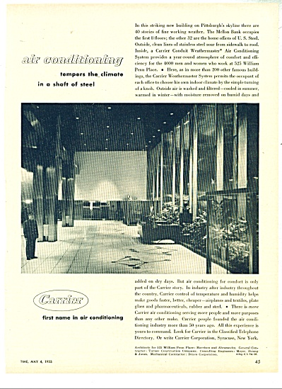 Carrier air conditioning ad - 1953 (Image1)