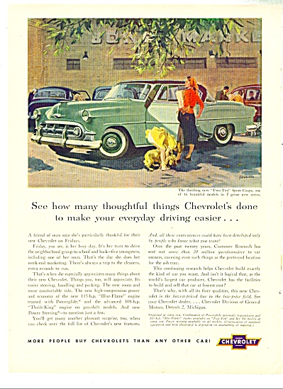1953 Chevrolet CHEVY Car AD JOHN GANNAM ART (Image1)
