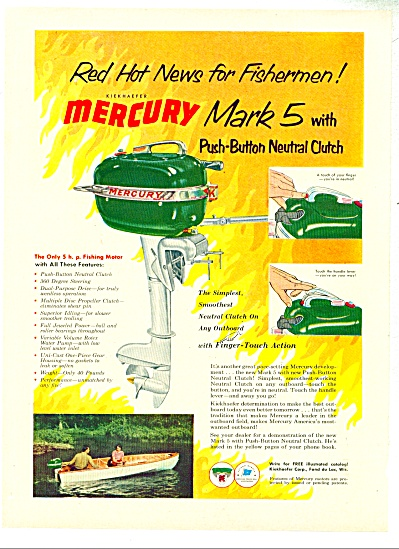 1953 MERCURY Mark 5 BOAT MOTOR AD (Image1)