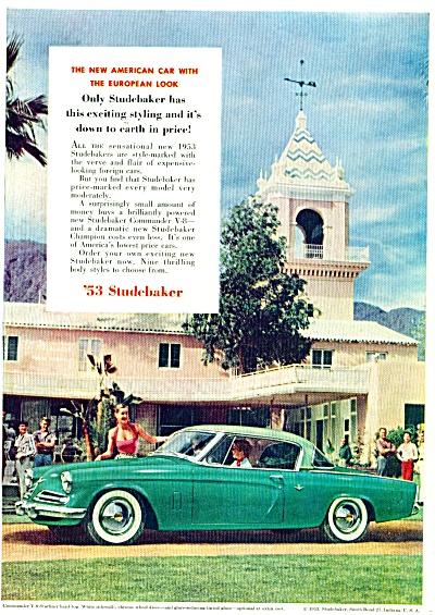 1953 STUDEBAKER Starliner Car AD GREEN BEAUTY (Image1)
