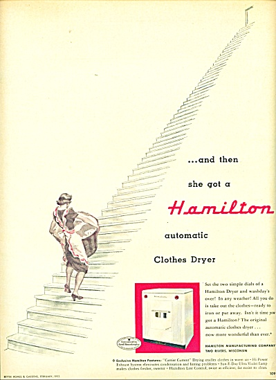 Hamilton clothes dryer ad - 1952 (Image1)