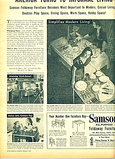 Samson Folday Furniture Ad - 1952