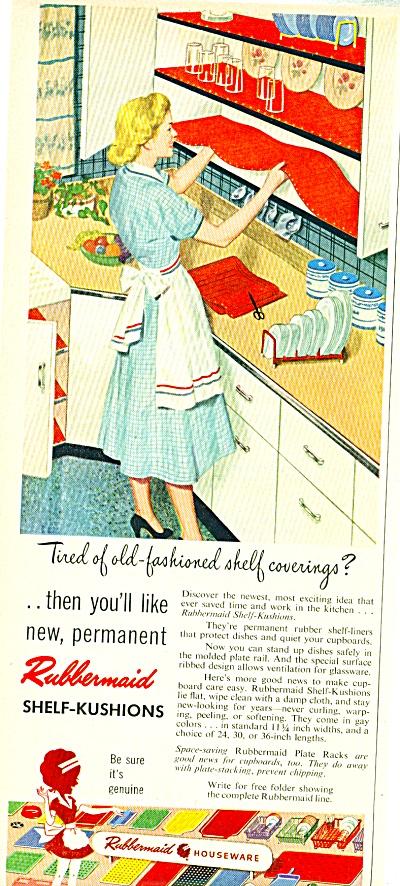1952 Rubbermaid SHELF KUSHIONS Decor AD (Image1)