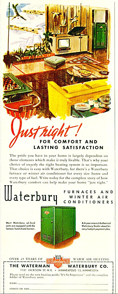 The Waterman Waterbury Co. ad - 1952 (Image1)