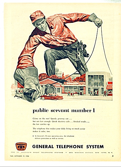 1956 General Telephone Lineman Public Servant