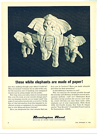 Remington Rand Corp. ad - 1956 (Image1)