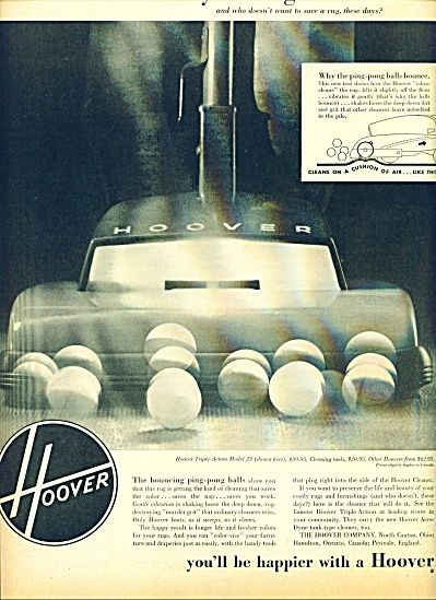 Hoover Vacuum cleaner ad  1952 (Image1)