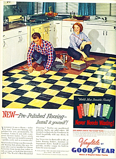 Vinyltile by Good year ad - 1952 (Image1)