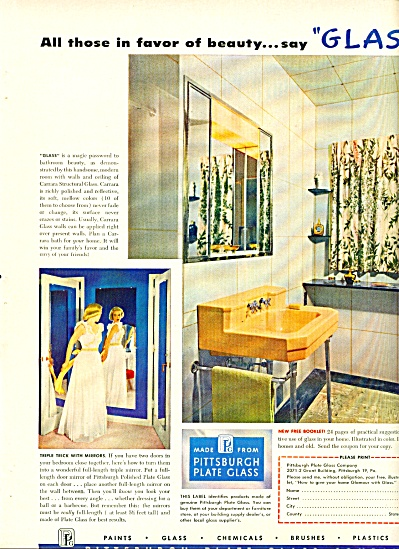 Pittsburgh Plate glass company ad - 1952 (Image1)
