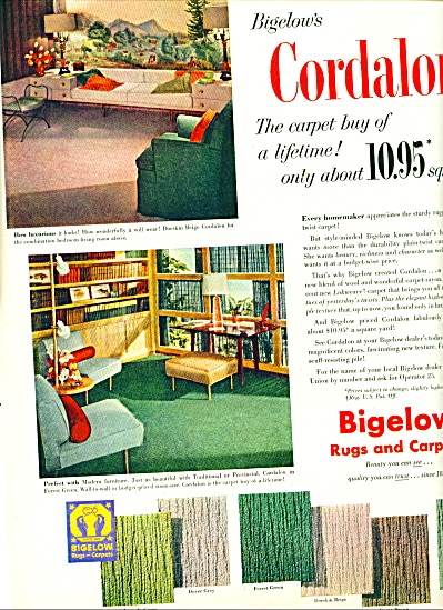 1952 Bigelow Cordalon Carpet - Rugs AD Retro (Image1)