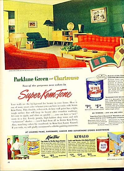 Kem Tone paints -ad   1952 (Image1)