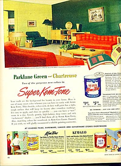 Kem Tone paints -ad   1952 (Image1)