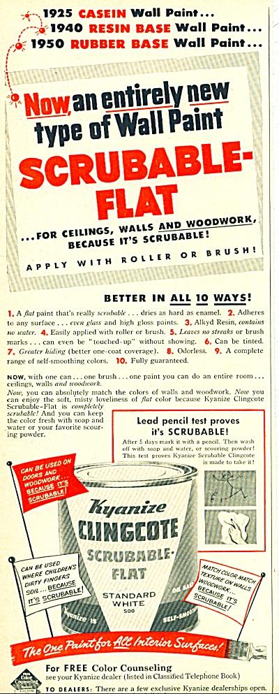 Kyanize Clingcote Flat paint ad - 1952 (Image1)